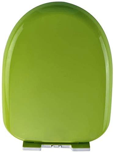 Asiento de Inodoro Gran selección de Color del Inodoro bisagras Robusta Tapa fácil de Montar (Color : Green, Size : U Type)