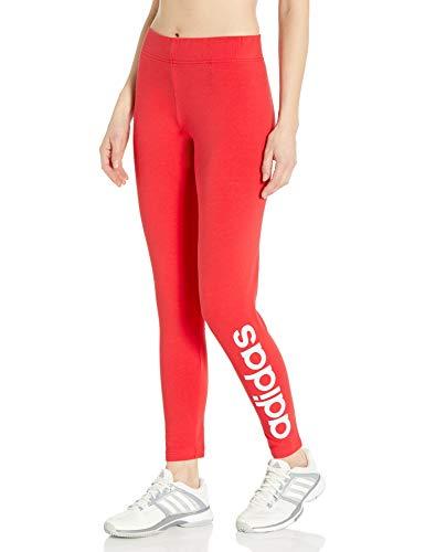 adidas Medias de Mujer Essentials Linear Tight, Mujer, Ceñidos, FRU81, Glory Rojo/Blanco, S