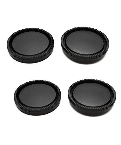 Cubierta del cuerpo de la cámara + tapa trasera de la lente para Sony E-Mount compatible con Sony A7C a7r3 a7r2 a7iii a7mii A7R A7S A7SII A6500 A6400 A6300 A6000 Cámara (paquete de 2)