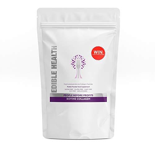 Edible Health Premium Bovine Collagen Powder, 2Kg, Hydrolysed Protein Peptides Supplements Contains 8 Essential Amino Acids. Paleo, Keto, Kosher, Halal. Made in EU