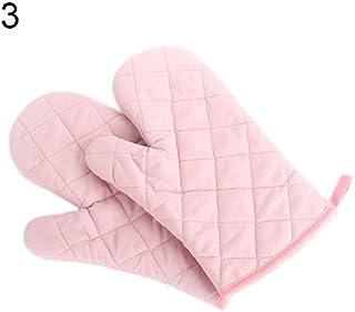 Quanjucheer - Manopla de horno de algodón, resistente al calor, protector para ollas de cocina rosa