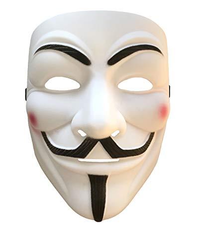 Disrerk V for Vendetta Guy Fawkes Costume Cosplay Mask for Halloween Masquerade Party