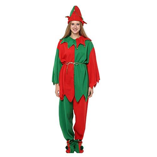 MLYWD Kerstkostuum Elfe Dames Kerstkostuum Kerstmankostuum Cosplay Kerstmankostuum Volwassenen Kerstkostuum Elfe Kerstkostuum Kerstmis kostuum carnaval party jurk