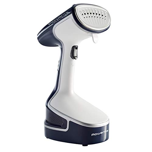 Rowenta DR8080 Powerful Handheld Garment and Fabric Steamer Stainless Steel Heated Soleplate 1500-Watts, Blue