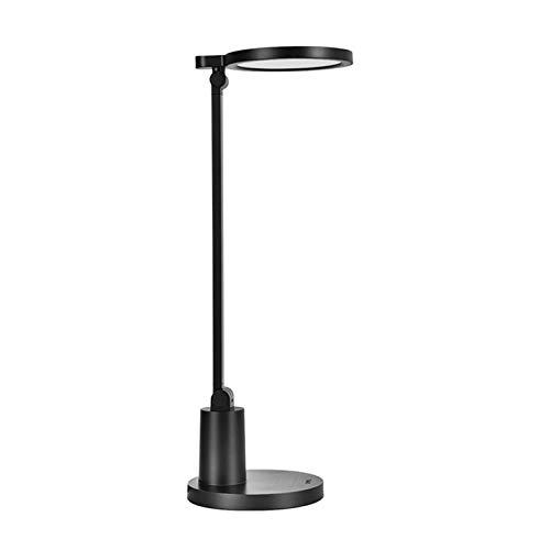 lámpara de noche Lámpara negra de escritorio LED TIPLIZA Lámpara de control de control táctil regulable, apagado de retardo, lámpara de mesa para leer, estudiar, trabajar, 3700K Luz blanca cálida Luz