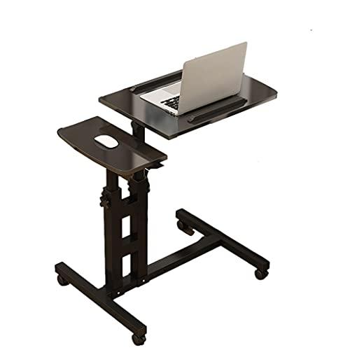 Mesa de ordenador portátil con ruedas para computadora portátil móvil soporte estudiante de pie escritorio altura ajustable muebles bandeja de alimentos escritorio