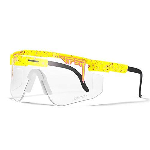 YTRFGH Gafas De Sol Polarizadas Pit Viper Sport Para Hombres Y Mujeres, Gafas A Prueba De Viento Al Aire Libre, Lentes Con Espejo Uv, Gafas Clásicas C38
