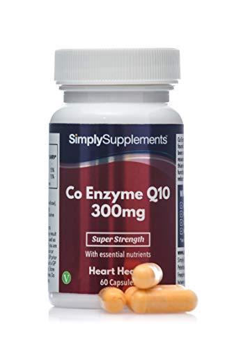 Coenzima Q10 300mg - ¡Bote para 2 meses! - Apto para veganos -60 cápsulas - SimplySupplements