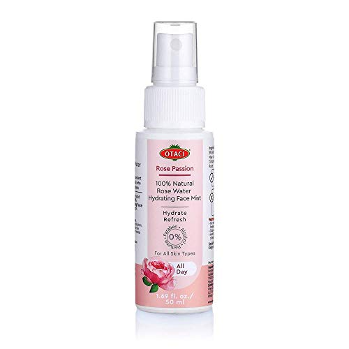 Otaci Rose Passion 100% Natural Rose Water Hydrating Face Mist, Spray Rosewater Face Mist Facial Hydrating Natural Skin