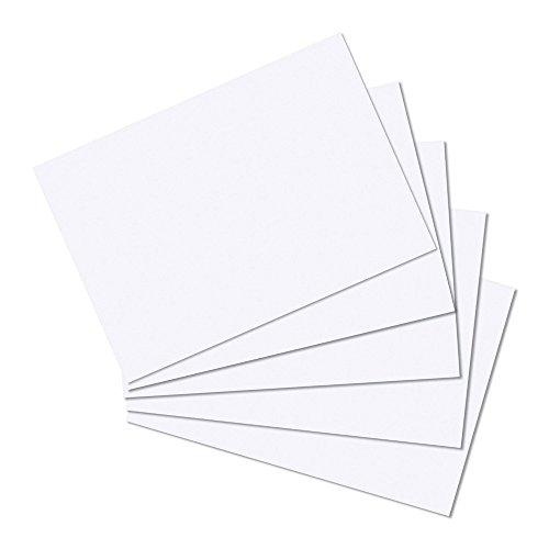 Herlitz 10621423 Karteikarte A6 blanko, 100 Stück eingeschweißt mit Aufreißfaden, blanko weiß