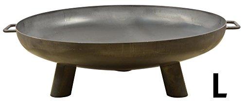 Esschert Design Stahlfeuerschale aus Stahl, 89,7 x 80,0 x 25,3 cm