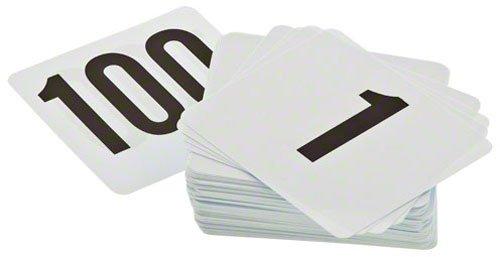 Update International (PTN4/1-100) Plastic Table Numbers, 1-100
