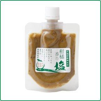 柑橘香り塩 100g×24袋 渡具知 料理王国100選に選出 沖縄特産・シークワーサーを塩漬けにし、ベニバナや島唐辛子を加えて練り上げた調味料 柚子胡椒の代わりに 塩麹のように漬込んで 沖縄土産にも最適