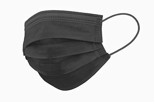 30er Spenderbox 3-lagig Einweg Mund- Nasen- Masken - Mit Nasenbügel - Frei von Fiberglas - Anthrazit