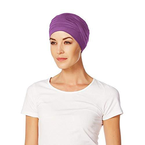 Christine Headwear Christine Headwear Shanti Uni Bambus Turban Kopftuch Damenturban Chemo-Kopfbedeckung (One Size - lila)