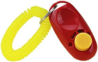 Big Button clicker with wrist band for Clicker training - click and train dog, cat, horse, pets