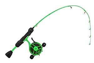 """13 FISHING - Radioactive Pickle Ice Combo - 27"""" L (Light) - FF Ghost + Tickle Stick (Locking Reel Seat - Left Hand Retrieve - RP2-27L-LH"""