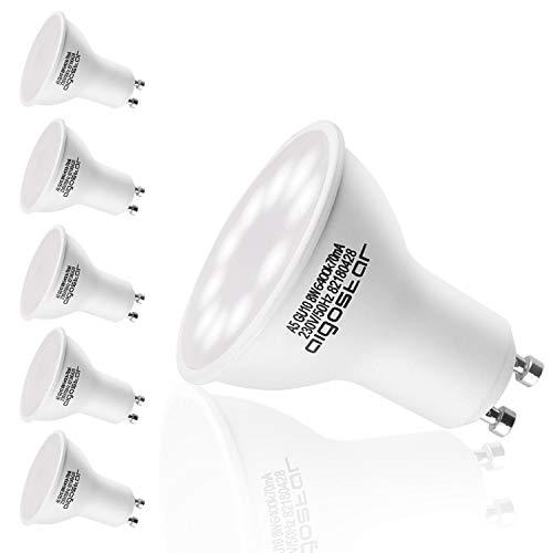 Aigostar GU10 Led kaltweiss 8W Leuchtmittel 6400K 600lumen 120 Abstrahlwinkel Milchglas Birne 5er Pack Ohne Quecksilber/Merkur