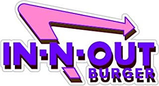 Futuristic in-N-Out (Size W12 x H6.4 Centimeter) Car Motorcycle Bicycle Skateboard Laptop Luggage Vinyl Sticker Graffiti Decal Bumper Sticker