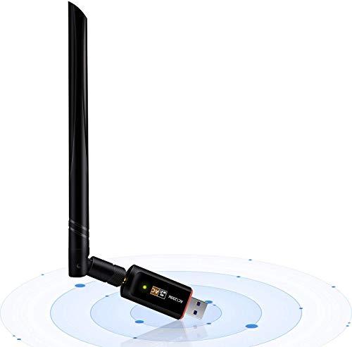 USB Wifi adaptador 1200 Mbps, USB 3.0 inalámbrico Red WiFi Dongle con 5dBi antena para PC/de sobremesa/portátil/tableta, doble banda 2.4 G/5G, 802.11 ac