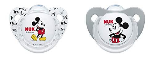 NUK 10176178 - Chupete de silicona con diseño de Winnie the Pooh gris gris Talla:6 - 18 Monate