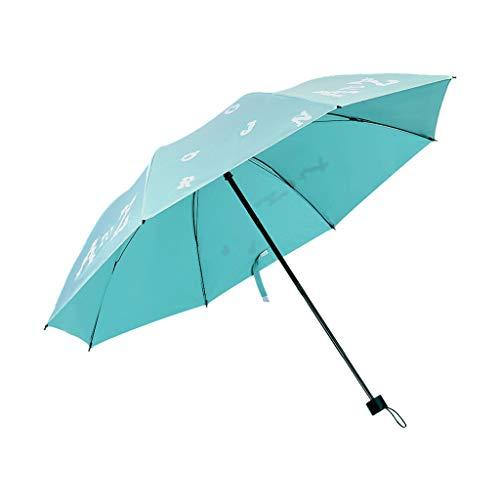 Rain Sun Dual-Use Regenschirm Faltschirm UV-Regenschirm 8 Knochen Sonnenschirm für Strand, blau