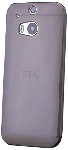 iCues HTC One M8 TPU Cover - Matt Braun - 100% Transparent + Displayschutzfolie