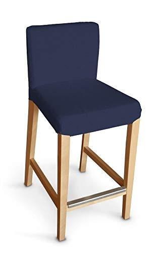 Dekoria Henriksdal Husse für Barhocker Husse Stuhlbezug,Stuhlkissen passend für IKEA Modell Henriksdal marinenblau