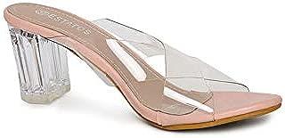 ESTATOS Black Open Toe Cross Strap Heel Sandals