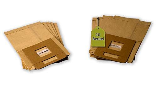 eVendix Staubsaugerbeutel kompatibel mit Privileg 412 730, 20 Staubbeutel, kompatibel mit Staubsaugerbeutel Swirl P34