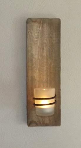 Dallaknaller Wandteelichthalter H1011 mit Teelichtglas gefrostet