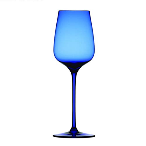 Copa Azul Transparente Copa De Vino De Cristal Copa De Vino Azul Elegante, Copa De...