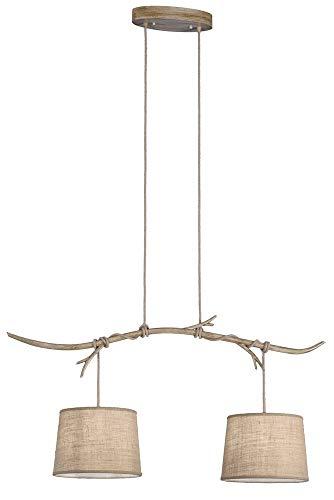 Lámpara colgante MANTRA SABINA 2L linea E27 40W imitación madera