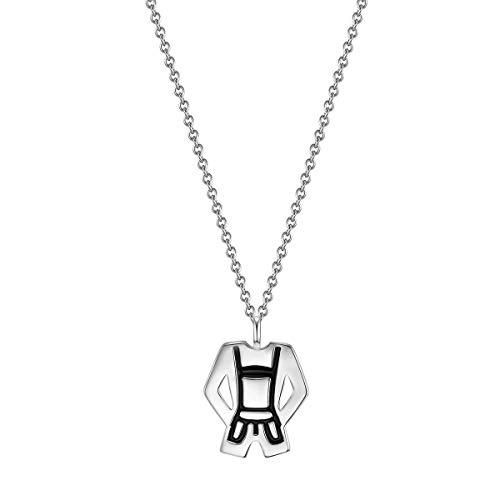 Glanzstücke München Damen-Halskette Lederhose Sterling Silber 40 + 5 cm - Silberkette mit Anhänger Trachtenschmuck