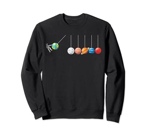 Divertida camiseta de astrofísico Planeta Péndulo de Newton Sudadera