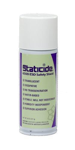 ACL Staticide 6500 ESD Safety Shield, 8 oz Aerosol Spray Can, Translucent