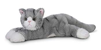 Bearington Socks Plush Stuffed Animal Grey Striped Tabby Cat Kitten 15 Inch