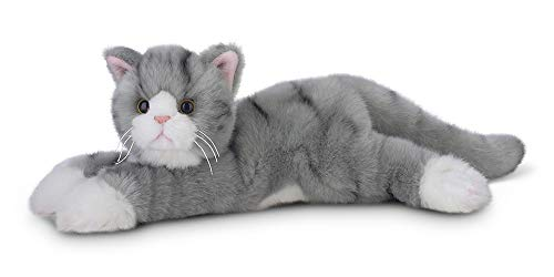 Bearington Socks Plush Stuffed Animal Grey Striped Tabby Cat, Kitten 15""