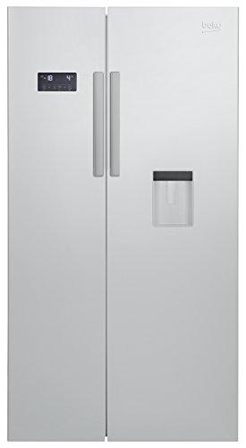 Beko GN 163221 S Side-by-Side / A+ / 182 cm Höhe / 364l Kühlteil / 190l Gefrierteil / No-Frost / Wasserspender / Multifunktionsdisplay / 0°C Zone / LED Innenbeleuchtung