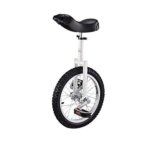 TTRY&ZHANG Adultos Altura Ajustable Freestyle Monociclo Sola Ronda de niños Equilibrio Ejercicio en Bicicleta 16/18/20 Pulgadas Negro (Size : 20 Inch)