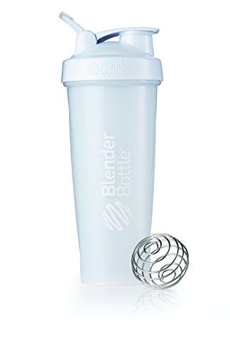 BlenderBottle Classic Loop Top Shaker Bottle, Frosted White, 32 oz by Blender Bottle