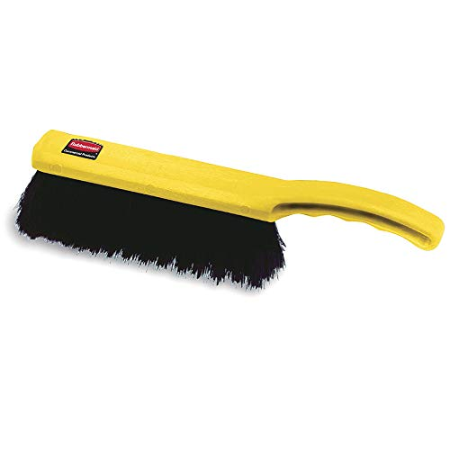 Rubbermaid Commercial 8 Inch Counter Brush, Flagged Polypropylene Fill for Smooth Surface Sweeping, Silver (FG634200SILV)