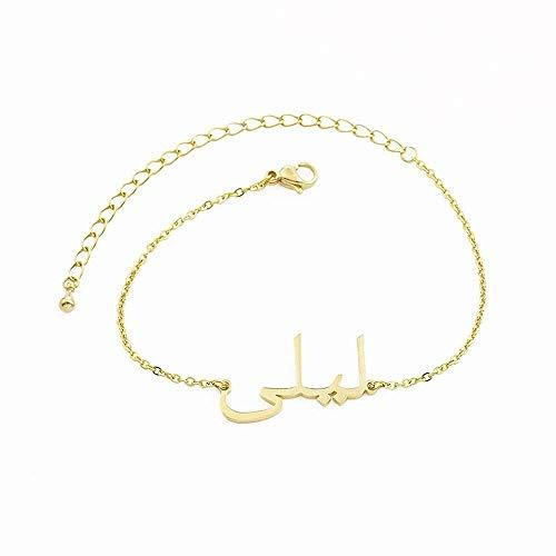 AAA Collar personalizado de acero inoxidable DIY personalizado collar chapado en oro de 18 quilates