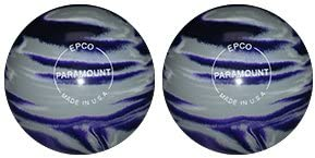 EPCO Duckpin Bowling Ball- Marbleized Grey Max 67% OFF - safety 2 White Purple