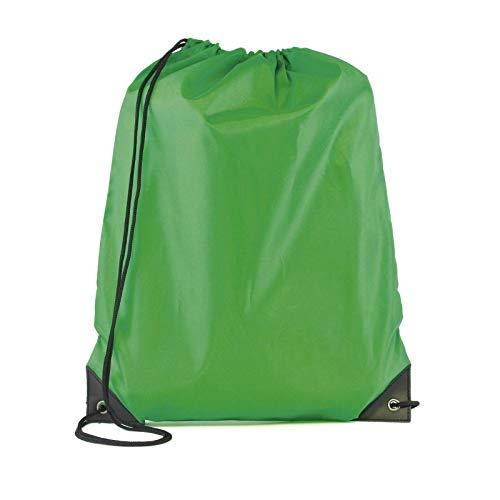 Bantersaurus Bolsas de cordón PE para gimnasio, bolsa de cuerda, deportes, natación, fútbol, escuela, niños, 330 x 435 mm, color verde oscuro