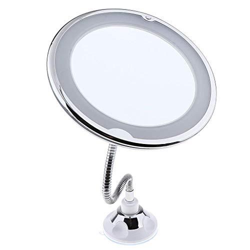 HONYGE LXGANG Espejo de cortesía portátil, Maquillaje Tocador Espejos con 21 Luces LED for el Dormitorio Escritorio de la Tabla Robusta Plegable de Maquillaje Espejo Ajustable Espejo de Pared
