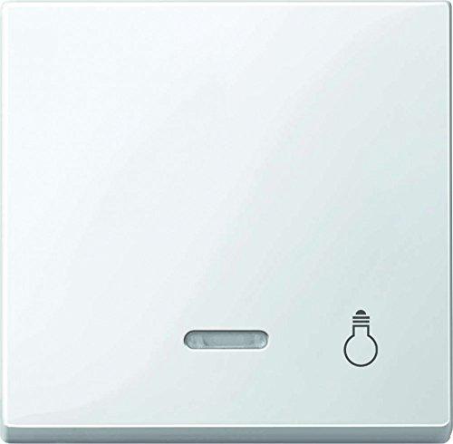 Merten 435919 Wippe mit Kontrollfenster und Aufdruck Licht, polarweiß glänzend, System M