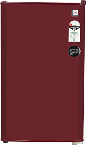 Godrej 99L 1 Star Direct Cool Single Door Refrigerator (RD CHAMP 114 WRF 1.2 WIN RED, Wine Red)