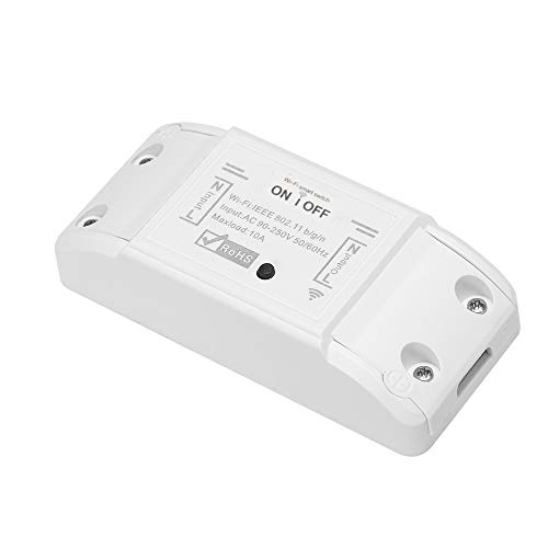 Galapar WiFi Smart Switch Compatible con Amazon Alexa y para Google Home Timer Interruptor Remoto inalámbrico de 10A / 2200W para Android/iOS App Control Smart Home Automation Module
