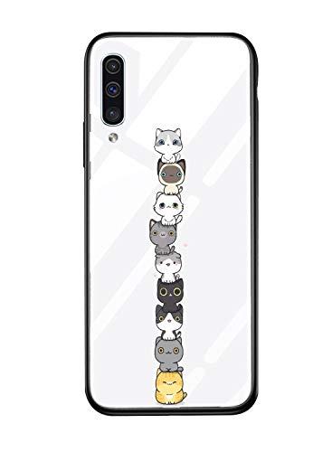 Alsoar Cover Compatibile per Galaxy J8 2018 Cover Sottile Antiurto Resistente per Samsung J8 2018 Custodia,Morbido Nero Silicone Bumper e etro Temperato Antiurti Moda Disegni Protettiva (Gatto)